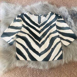 Zebra print crop top 🦓